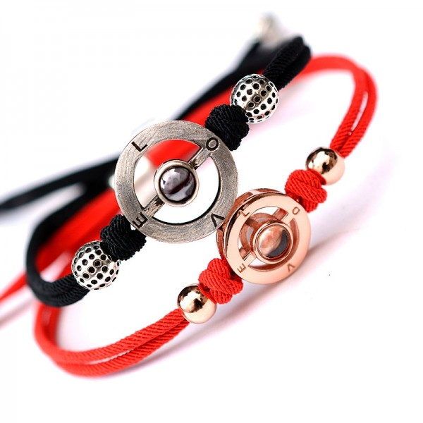 I Love You in 100 Languages Couple Bangle Bracelet