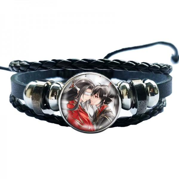 Personalized Custom Photo Engraved Cowhide Rope Bracelet