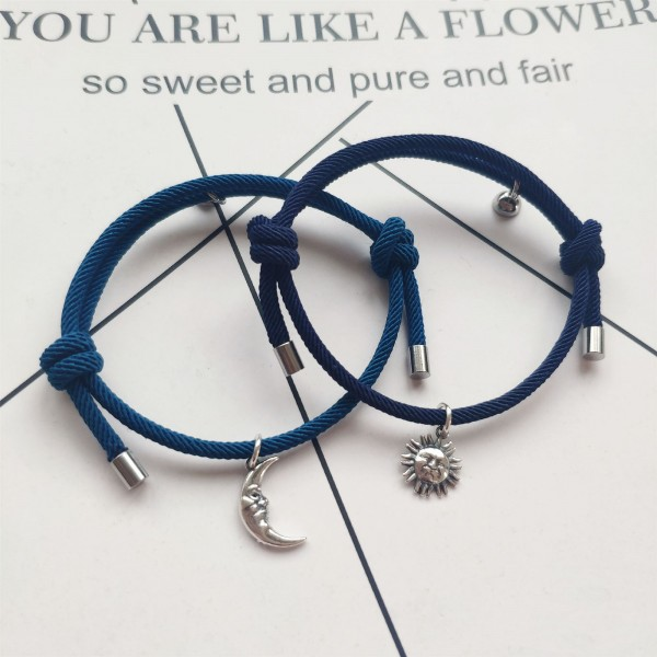 Personalized Sun And Moon Matching Bracelets For Couples