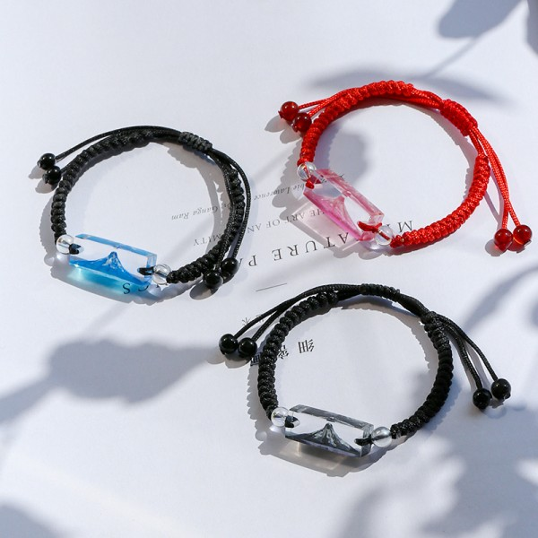 Personalized Snow Mountains Matching Bracelets For Couples