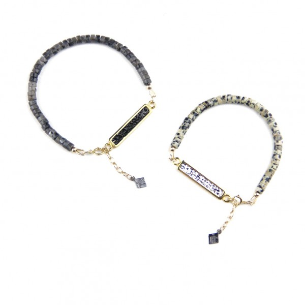 Unique Matching Bracelets For Couples In Silver And 14K Gold