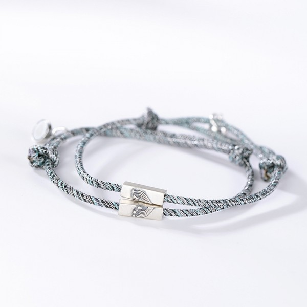 Engravable Attract Heart Of The Sea Matching Couple Bracelets