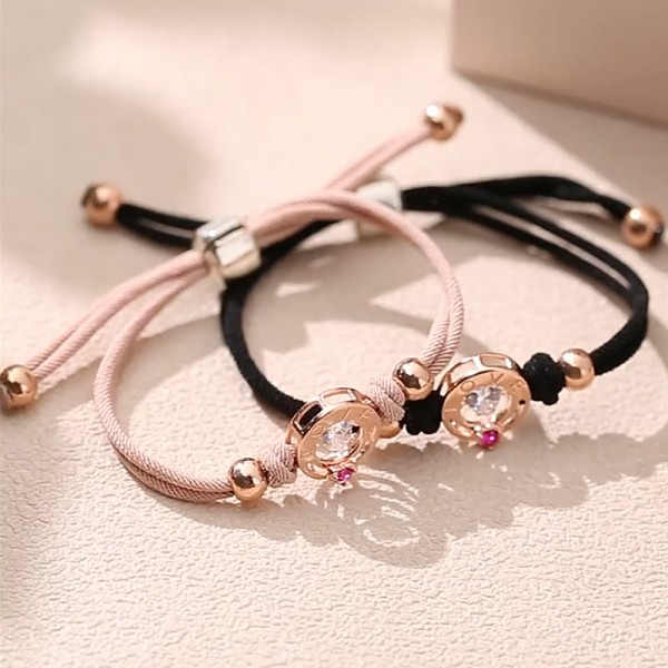 Personalized Love You All My Heart Matching Bracelets For Couples
