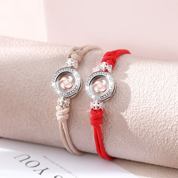 Personalized Spinning Windmill Matching Bracelets For Couples