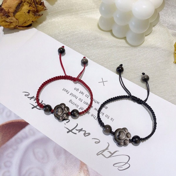 Cute Cat Paw Matching Bracelets For Couples