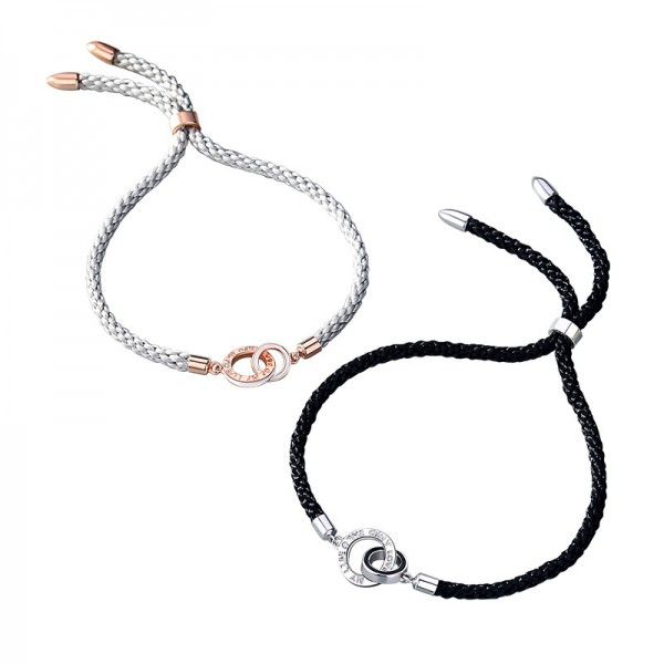 Personalized The Only Love Of My Life Knot Bracelets For Couples