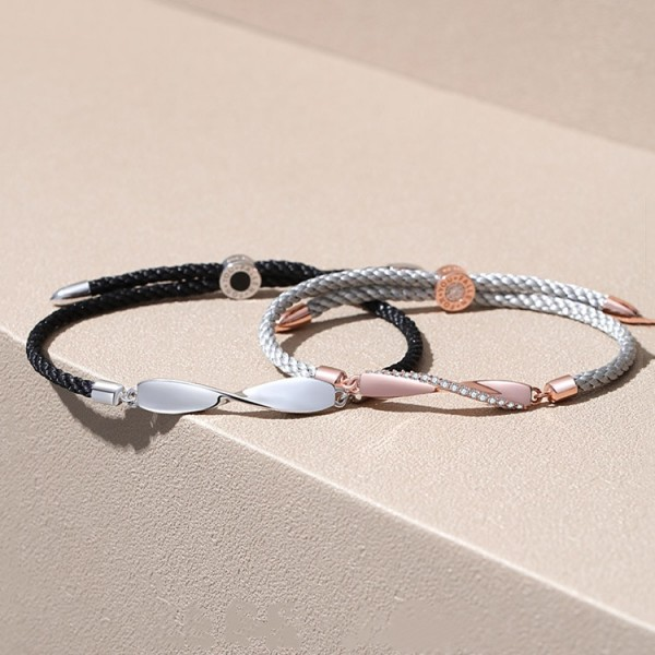 Unique Infinity Bracelets For Couples In Sterling Silver