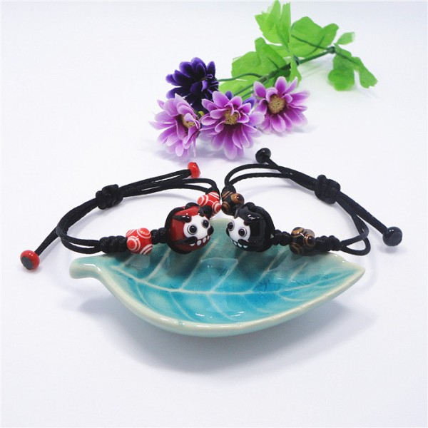 Unique Cute Ceramic Glaze Bracelets For Couples