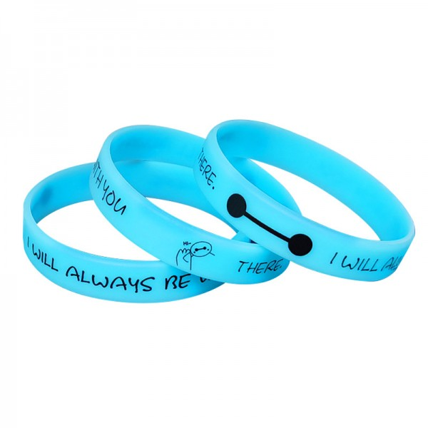 I Will Always Be With You Luminous Couple Bracelets In Silicone