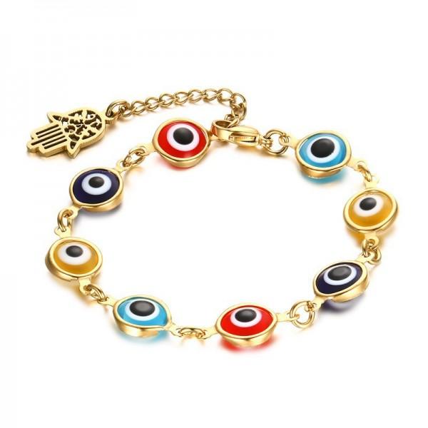 Personalized Hamsa Bracelet For Womens In Titanium