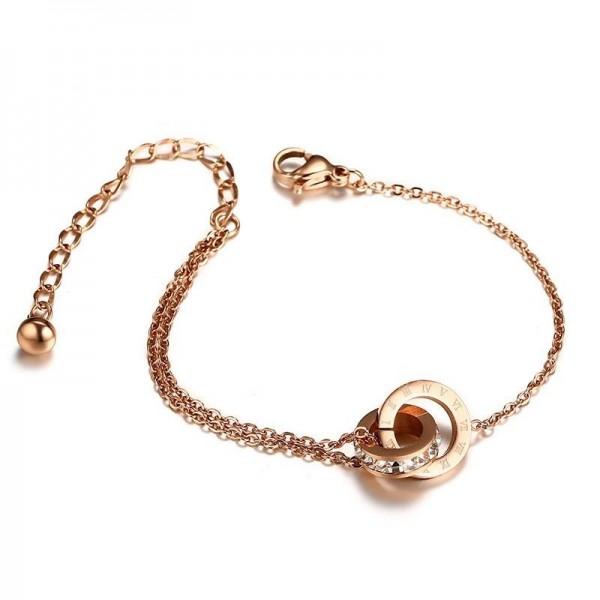 Unique Love Knot Bracelet For Womens In Titanium