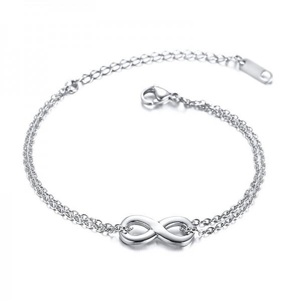Simple Infinity Bracelet For Womens In Titanium