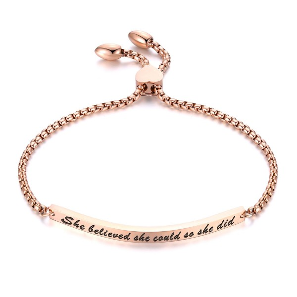 Personalized Front Engraving Bracelet For Womens In Titanium