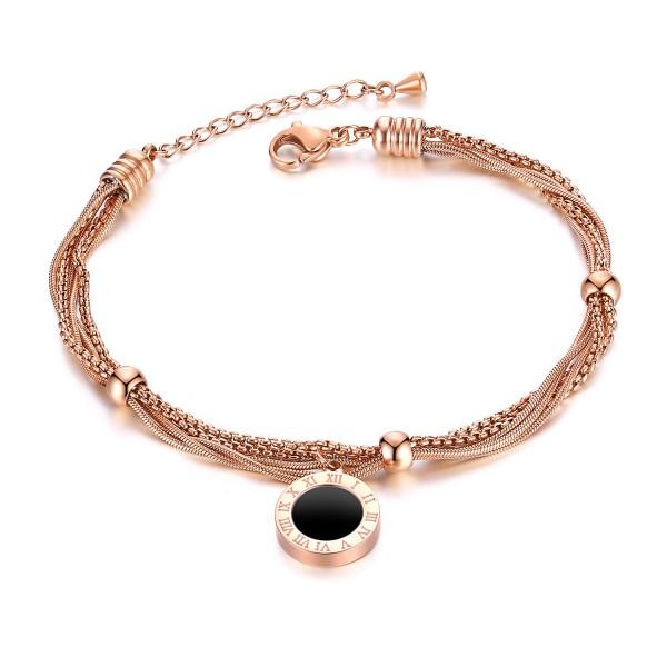 Unique Rose Chain Bracelet For Womens In Titanium