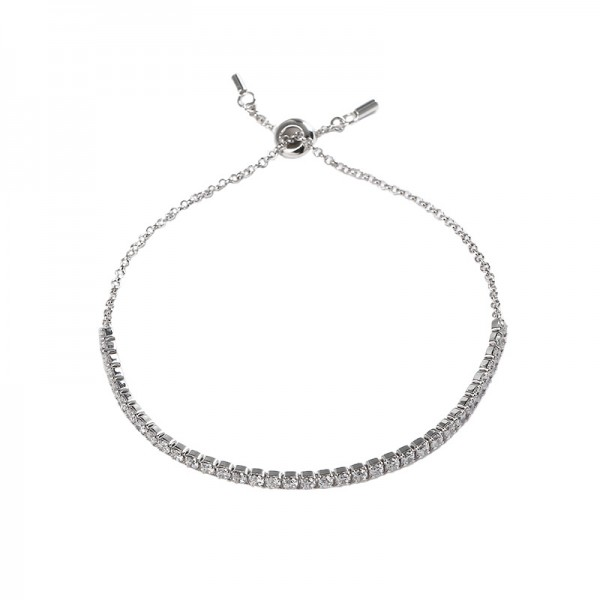 Unique Shining Bracelet For Womens In Sterling Silver And Cubic Zirconia
