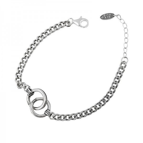 Unique Double Knot Bracelet For Womens In Sterling Silver