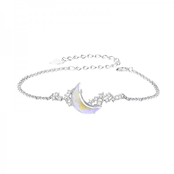 Unique Dream Moonlight Charm Bracelet For Womens In Sterling Silver