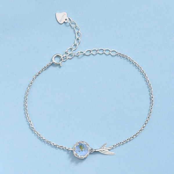 Unique Magical Mermaid Princess Charm Bracelet For Womens In Sterling Silver
