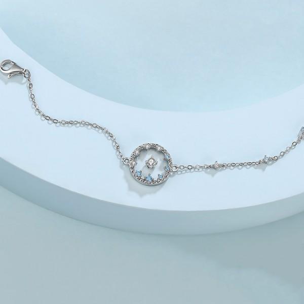 Unique Skyland Charm Bracelet For Womens In Sterling Silver