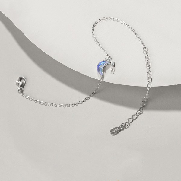 Cute Under The Moonlight Charm Bracelet For Womens In Sterling Silver