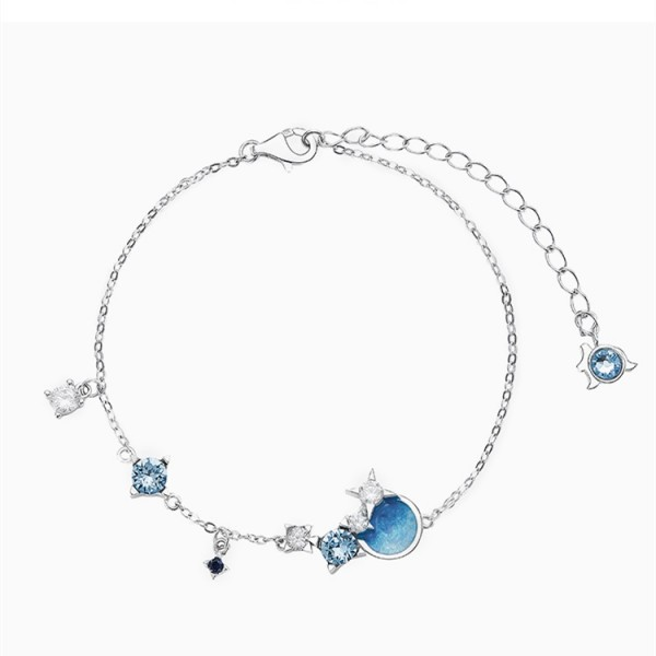 Personalized Constellation Bracelet For Womens In Sterling Silver And Cubic Zirconia