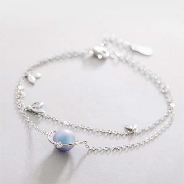 Unique Romantic Summer Night Bracelet For Womens In Sterling Silver