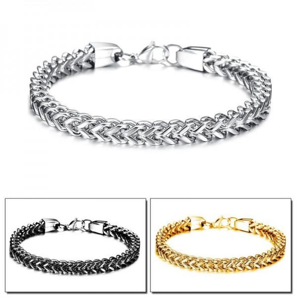 Unique Chain Bracelet For Men In Titanium