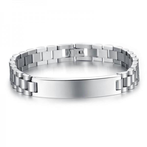 Simple Front Engravable Bracelet For Men In Titanium