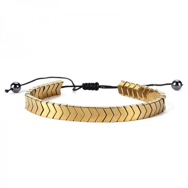 Simple Strap Bracelet For Men In Titanium