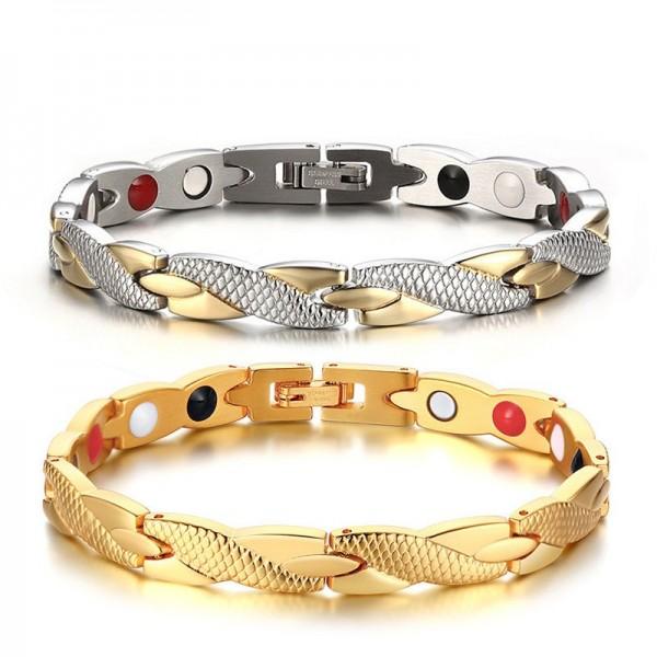 Unique Knot Magnetic Bracelet For Men In Titanium