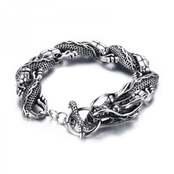 Unique Dragon Bracelet For Men In Titanium