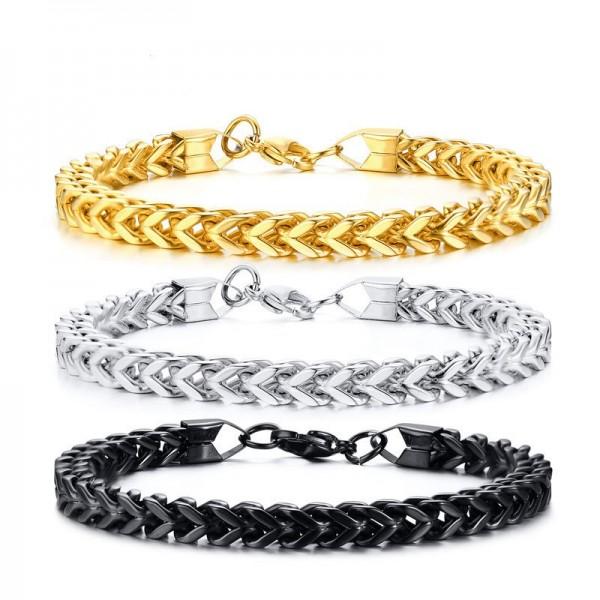Unique Arrow Chain Bracelet For Men In Titanium