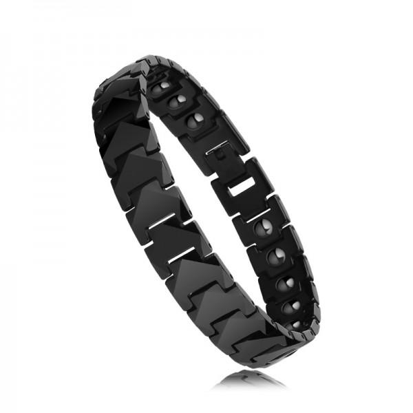 Unique Strap Magnetic Bracelet For Men In Tungsten