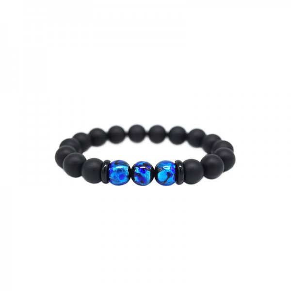 Unique Colored Glaze Bead Bracelet For Men