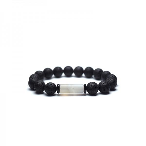 Unique Lava Stone Bead Bracelet For Men