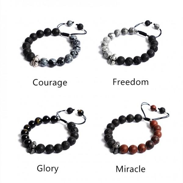 Personalized Spartan Beaded Bracelet For Men