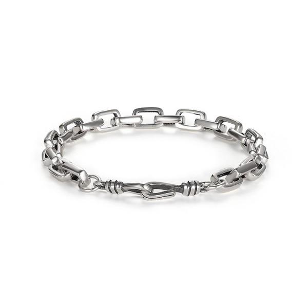 Unique Tank Chain Bracelet For Men In Sterling Silver