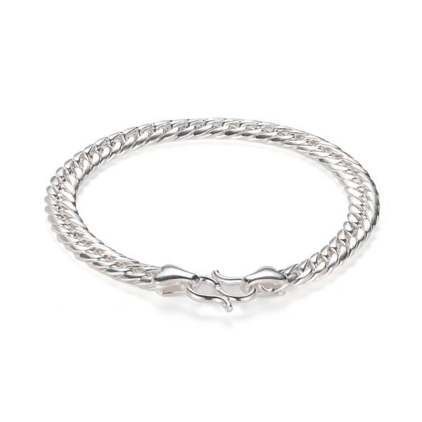 Engravable Cuban Link Bracelet For Men In Sterling Silver