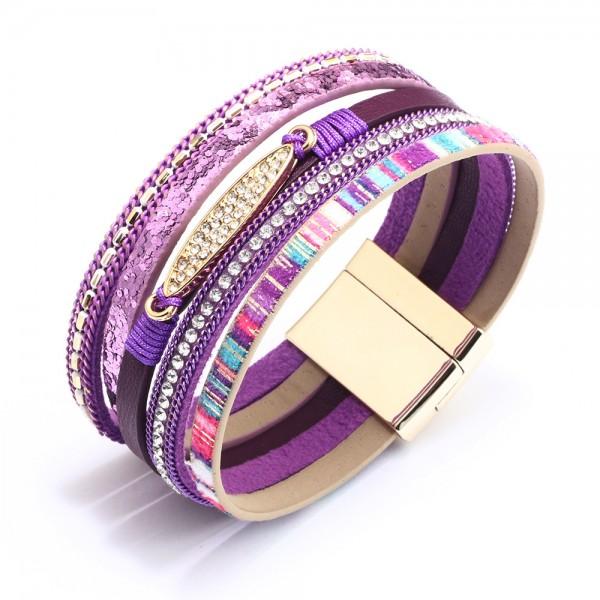 Cute Bohemian Ethnic Leather Bracelet For Women