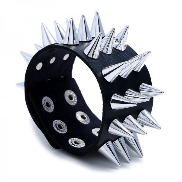 Unique Spike Leather Bracelet For Women