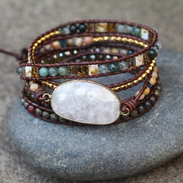 Unique 5 Strand Beaded Bracelet For Women