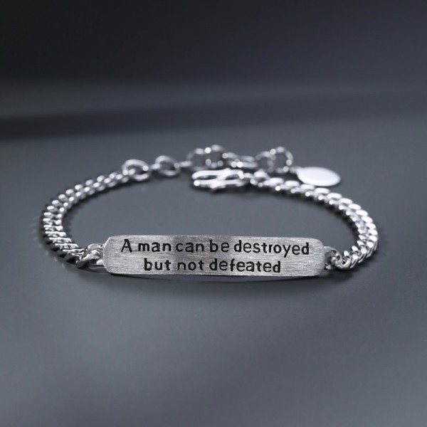 Engravable The Old Man And The Sea Charm Bracelet For Men In Sterling Silver
