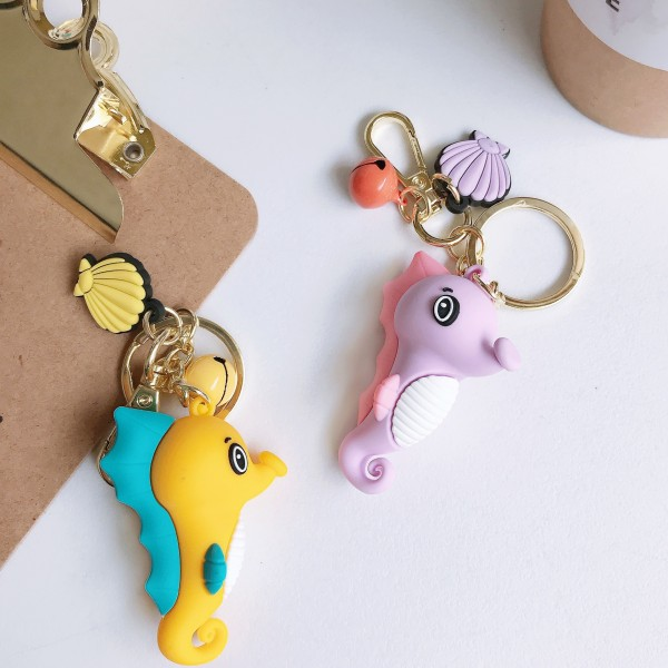 Cute Silicone Seahorse Keychains For Couples