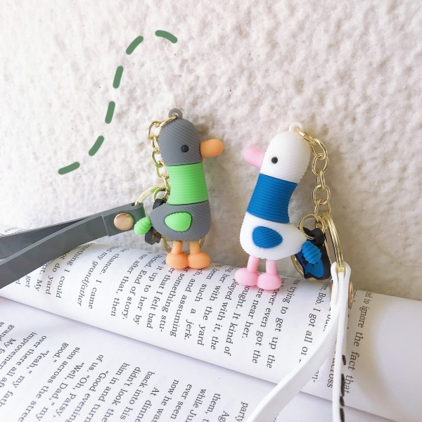 Cute Silicone Seagull Keychains For Couples