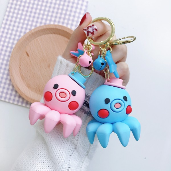 Cute Silicone Octopus Keychains For Couples