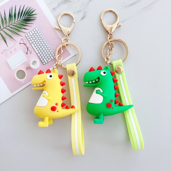 Cute Silicone Dinosaur Keychains For Couples