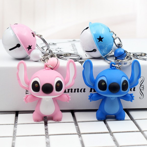 Cute Stitch And Angel Keychains For Couples