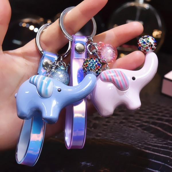 Cute PVC Elephant Keychain For Couples