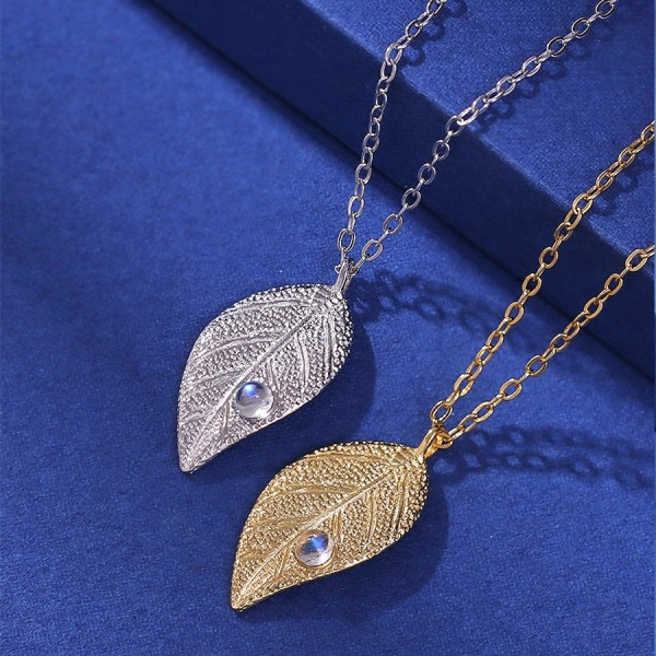 Personalized Gentle Rain On Leaves Matching Necklaces In Sterling Silver
