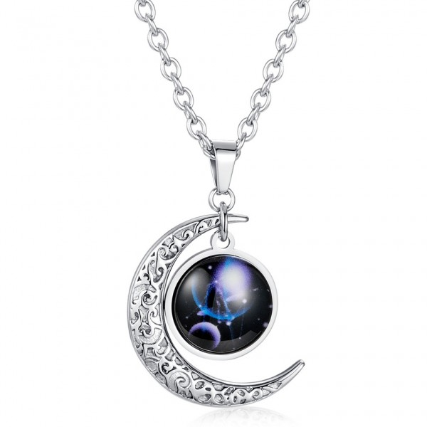 Sun And Moon Constellation Necklaces For Couples In Titanium
